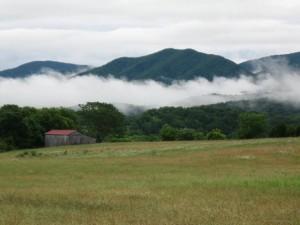 Fog on Blue Ridge Mountains